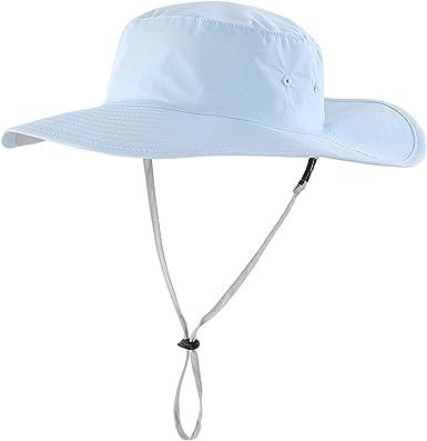 LLmoway Men Sun Protection Flap Hats Wide Brim Hiking Safari Fishing Cap UPF50+