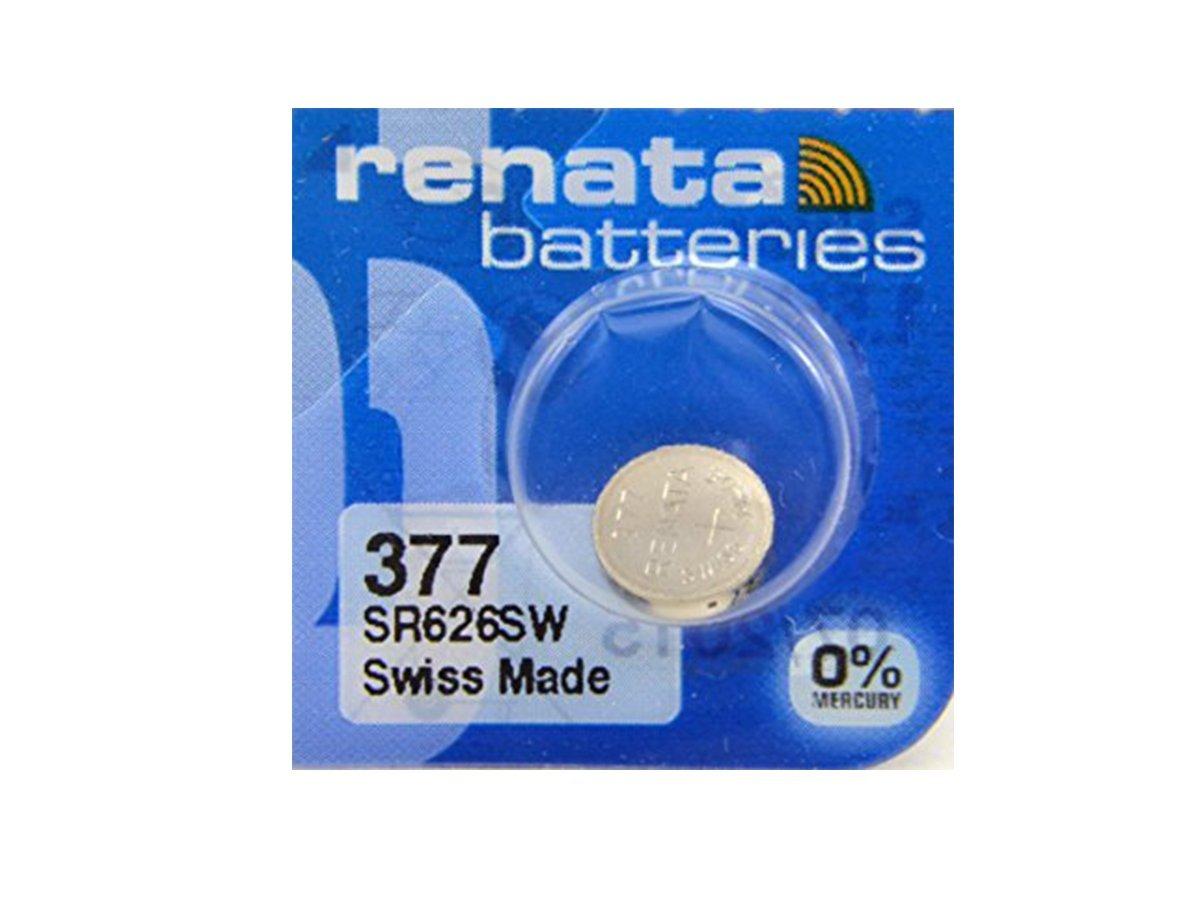 Renata #377 Silver Oxide Battery - 5 Pack