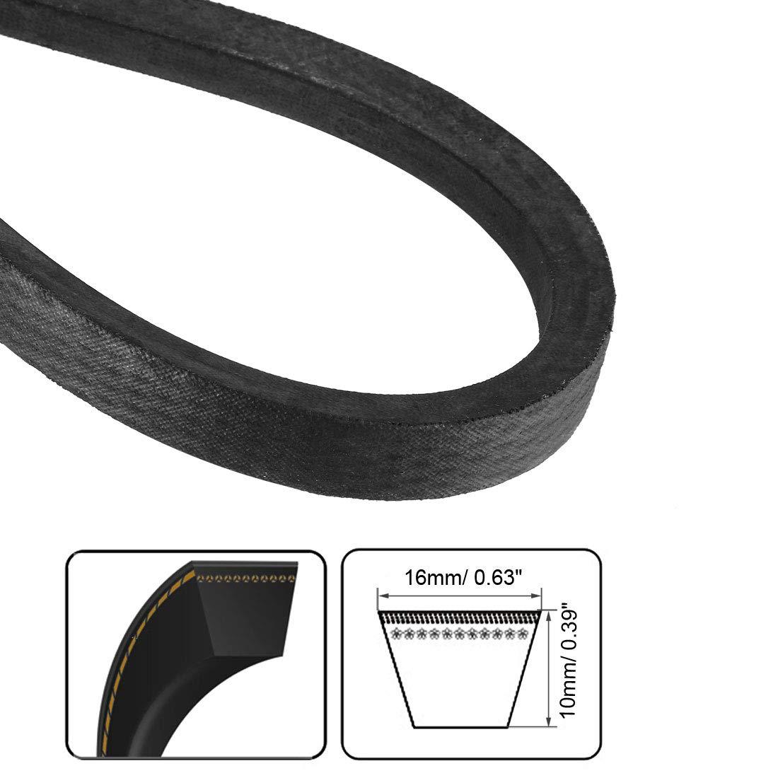 uxcell B-600//B24 Drive V-Belt Inner Girth 24-inch Industrial Power Rubber Transmission Belt