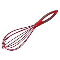 BESTOMZ Sbattitore frusta di uovo da cucina di silicone in Rosso