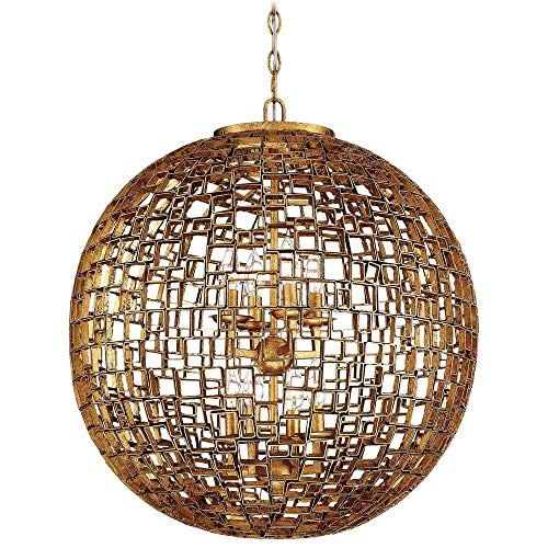 Metropolitan N7139-597 Abbondanza Chandelier, 8-Light 480 Total Watts, Halcyon Gold