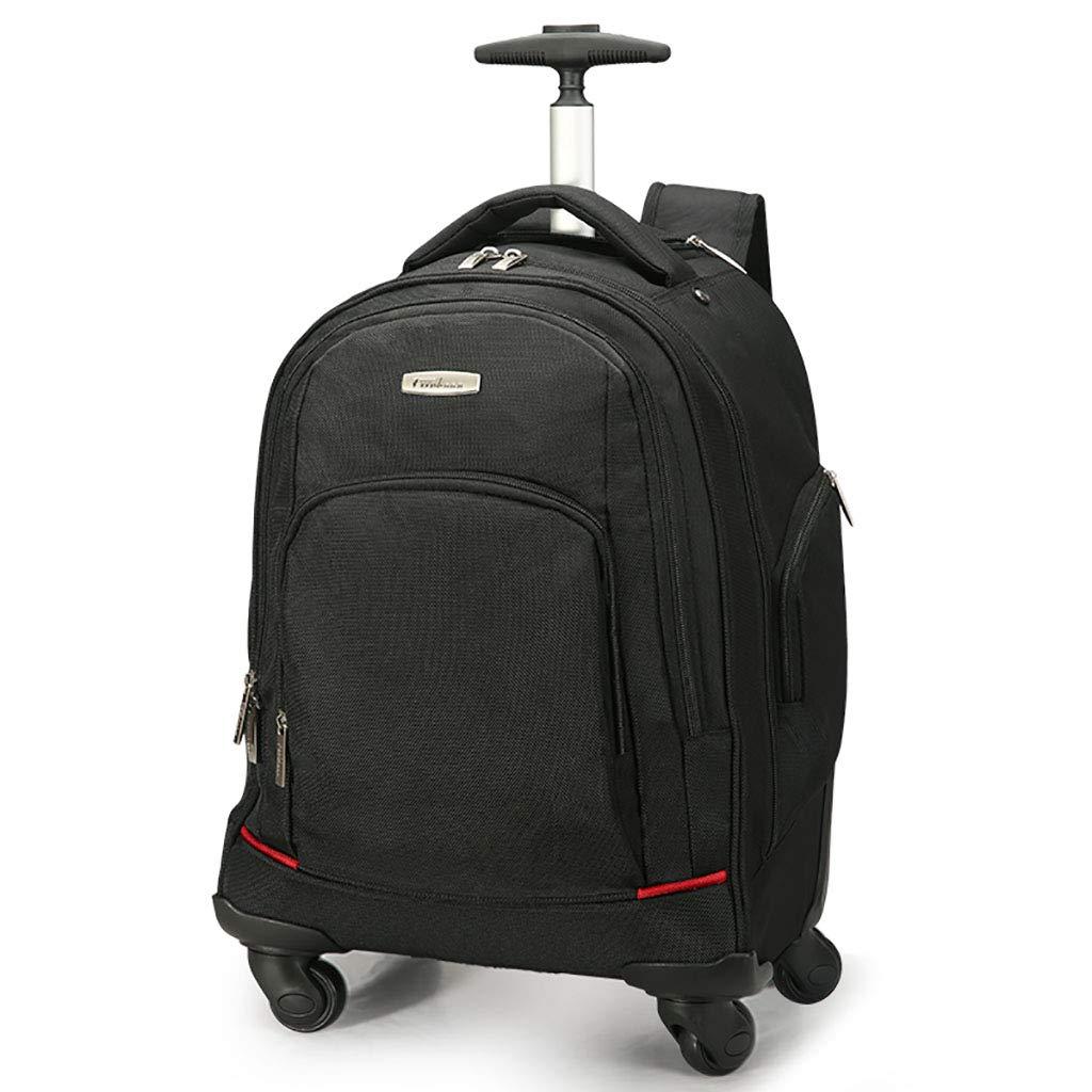 トロリーバックパックホイルラップトップカレッジバックパック、ローリングスクールバッグ、ビジネスバックパック、旅行のバックパックをウィールドローリングバックパック B07M5XMXWF