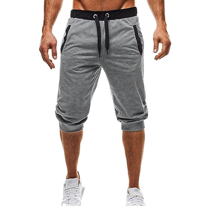 Juleya Pantalones Cortos para Hombre - Gimnasio Sport Jogging Shorts con Cordón Cómodo Cintura Elástica Casual