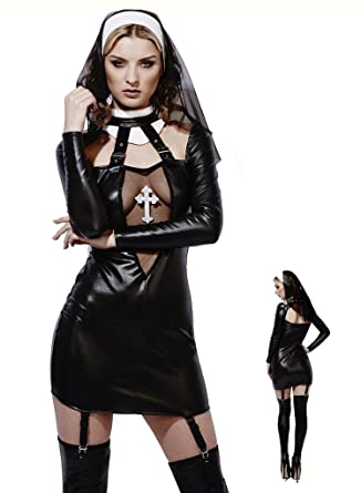 Adult Size Miss Behave Naughty Nun Costume Xtra Small