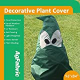 Agfabric Plant Cover Warm Worth Frost Blanket - 1.5 oz Fabric of 96''Hx84''W Shrub Jacket, Decorative Plant Cover for Season Extension&Frost Protection, Dark Green