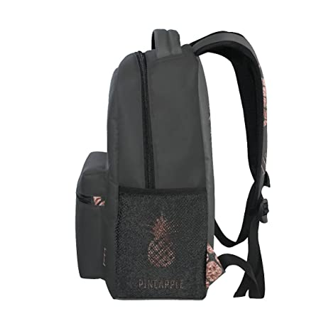 4994f348e2b9 Amazon.com  TropicalLife Rose Gold Foil Pineapple Backpacks School Bookbag  Shoulder Backpack Hiking Travel Daypack Casual Bags  Computers   Accessories