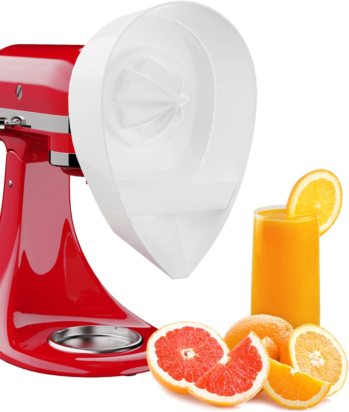 X Home Citrus Juicer Attachment Compatible with Kitchenaid Stander Mixer to Extract Juice of Orange, Lime, Lemon and Grapefruit, Electric Citrus Fruits Squeezer