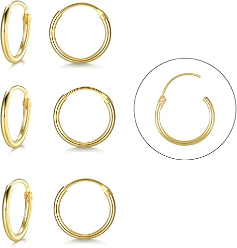 Sterling silver endless hoop earrings-4 pair-wear and share!