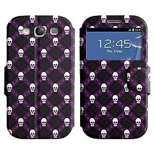 LEOCASE White Skull Funda Carcasa Cuero Tapa Case Para Samsung Galaxy S3 I9300 No.1001941