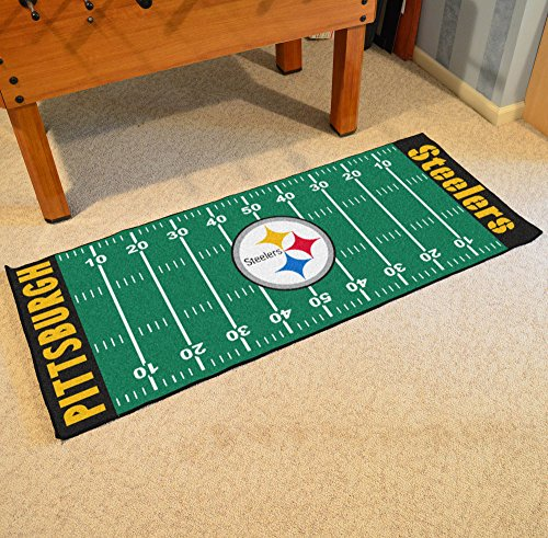 Steelers Home Field Rug - NFL Pittsburgh Steelers Football Field Runner