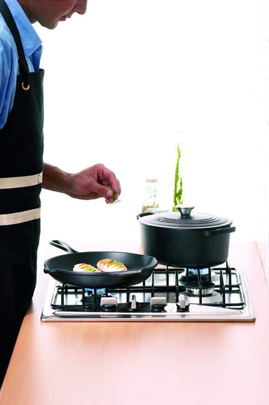 Black Le Creuset Textiles Chefs Apron