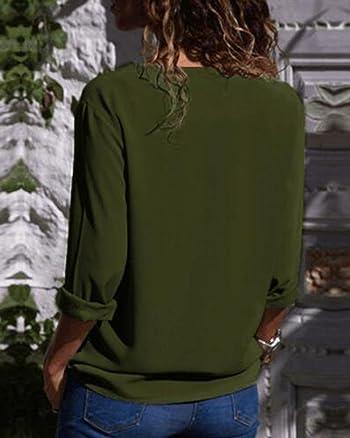 Women's Asymmetrical Skew Neck Buttons Blouse Long Sleeve Top Shirts