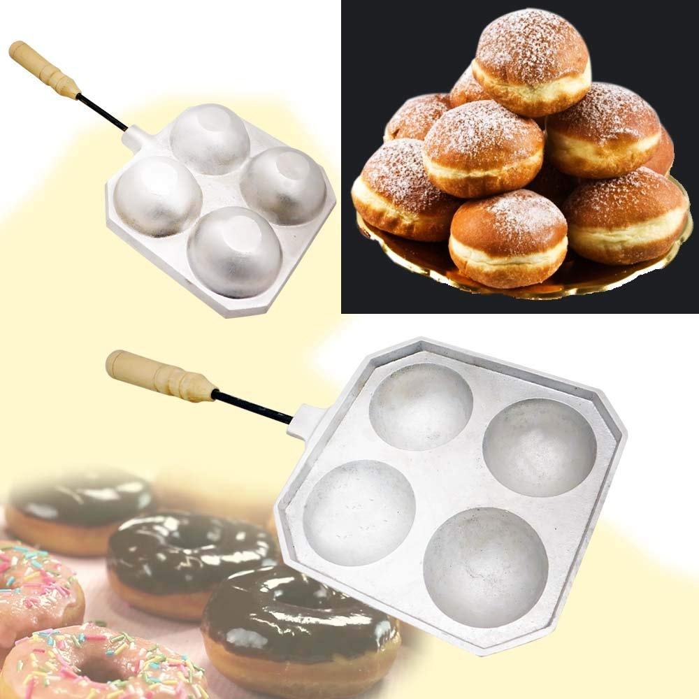 Doughnut Donut Takoyaki Cheese Balls Cookie Mold Maker Oreshki Cookies Pastry + Color Book With Russian Recipes