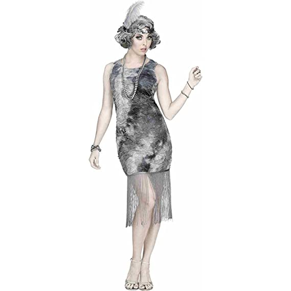 Roaring 20s Costumes- Flapper Costumes, Gangster Costumes Fun World - Womens Ghostly Flapper Costume $39.91 AT vintagedancer.com