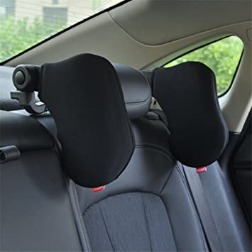 Car Headrest Cushion Adjustable Neck Support Travel Car Seat Pillow