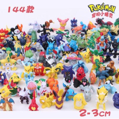 144pcs/lot Pokemon Action Figures New Cute Monster Mini Figures Toys