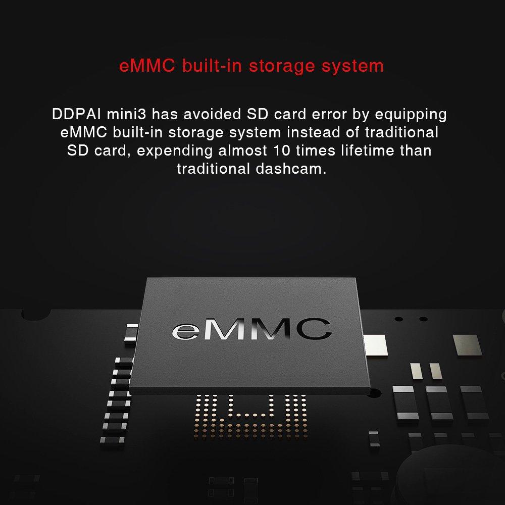in 32G e mmC Storage Car DVR Dash Camera with F1.8 Aperture DDPai Mini3 1600P Car Camera Built 140 Wide Angle DDPAI Technology Co Night Vision Ltd.