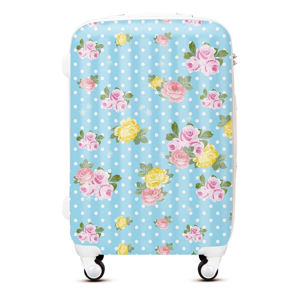 waowaoマルチカラーHardside Luggage B01G3A8OGW  24 inch