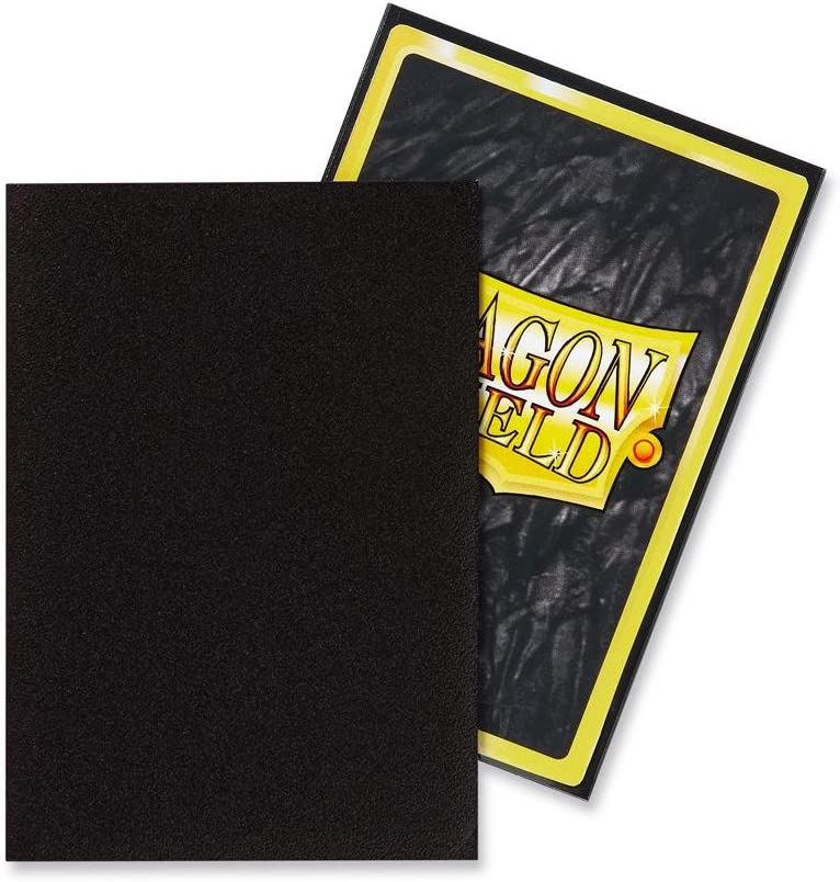 Dragon Shield Bundle 2 Packs of 60 Count Japanese Size Mini Matte Card Sleeves Matte Black