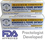 Doctor Butler's Hemorrhoid & Fissure Treatment Discount Package of 2 (Two) Relief & Healing Formula (Also Contains Herbs, Minerals and Amino Acids)