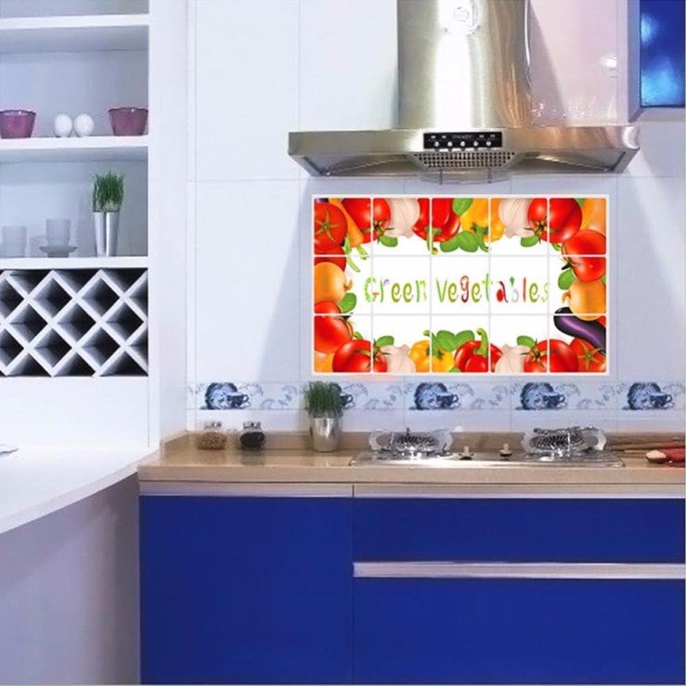 Tefamore Pegatina de pared Cocina a prueba de aceite etiqueta adhesiva de pared desmontable Art Decor Hogar Decal (A): Amazon.es: Ropa y accesorios