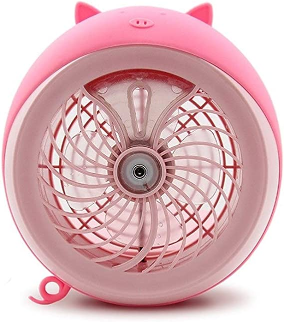 Color : Pink Air Cooling Fan Outdoors Portable Mini Fan USB for Car Electric Battery Rechargeable Handheld Fan Shell Shape Cooler