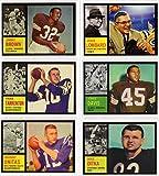 1962 Topps Football (6) Card Reprint Lot featueing**Jim Brown, Vince Lombardi Custom Card, John Unitas. Fran Tarkenton, Ernie Davis Rookie,Mike Ditka Rookie