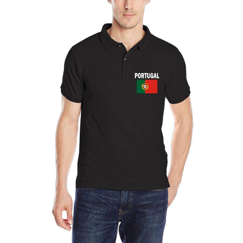 DAD97KHG Portugal Flag-1 Mens Short Sleeves Polo T Shirt