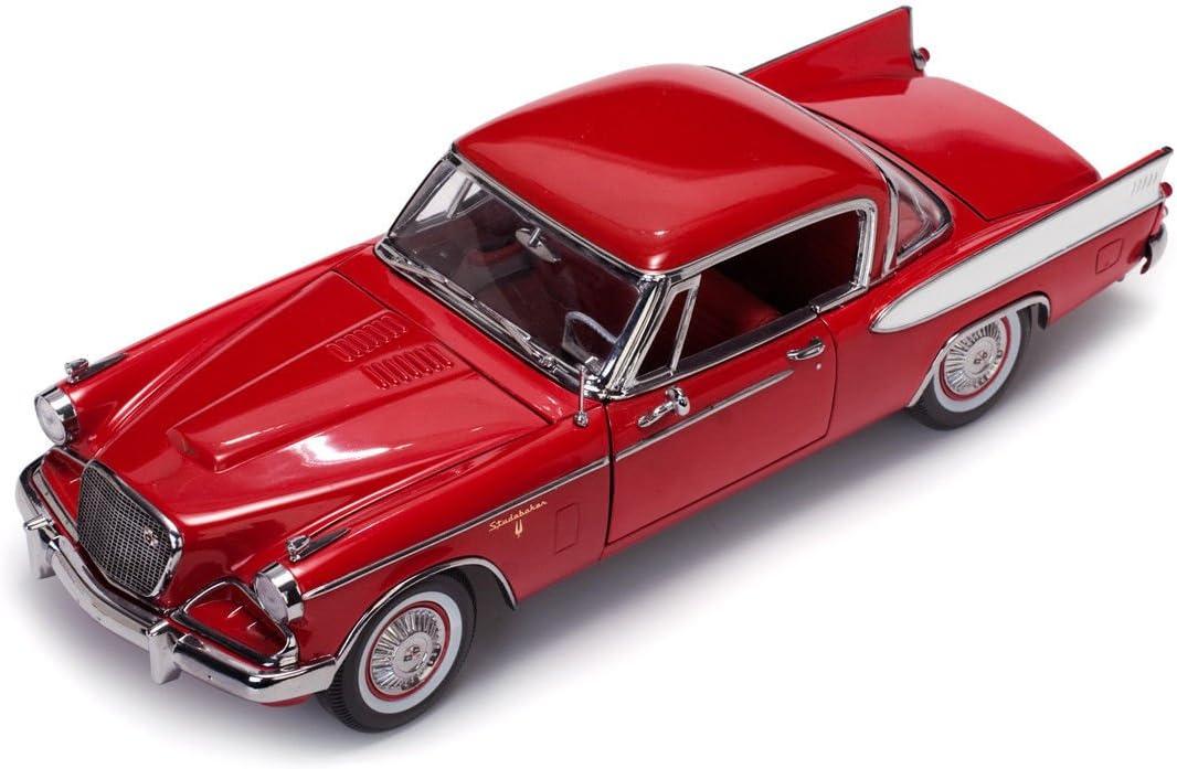 DIECAST CAR /& LED CASE 1957 STUDEBAKER GOLDEN HAWK APACHE SUN STAR 6153 1//18