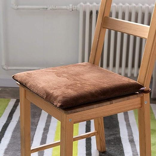 YAUUYA Cojin para Silla Cojines para Interior o Exterior de Algodón Memoria Medidas 40 x 40 x 5 cm Cojines para sillas de Exterior Cojín Decorado de Asiento para Silla de jardín: