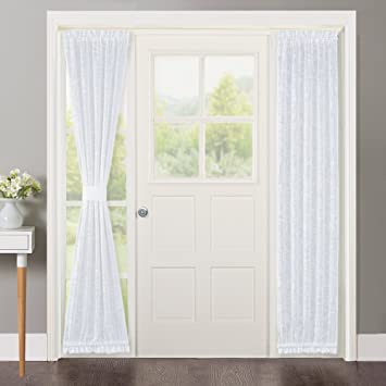 Amazon Nicetown Sidelight Curtains For Front Door Linen