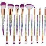 YJYdada New Arrival 10Pc Mermaid Foundation Eyeshadow Contour Eye Lip Makeup Brushes Set