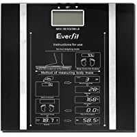Everfit Smart Digital Bathroom Bady Fat Composition Scale Monitor with Tempered Glass Platform-Black