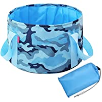 Portable Folding Travel Foot Bath Bucket, 12 L Large-capacity Nylon Cloth Bucket with Storage Bag for Outdoor Camping…