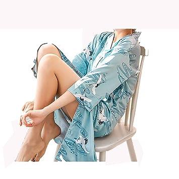 GX Bata Kimono de Seda de Manga Corta para Mujer, Novia y Dama de Honor,C,M: Amazon.es: Hogar