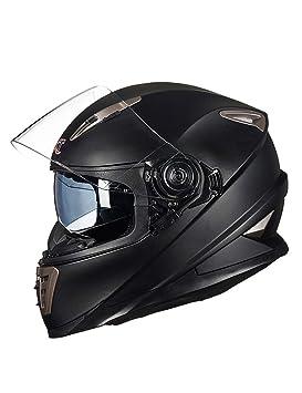 ZYear Casco de Motocicleta con Lente antivaho Carreras de Autos Deportivos de Cara Completa Casco de