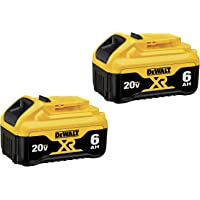 2-Pack Dewalt 20V MAX Premium 6.0Ah Battery Pack (DCB206-2)