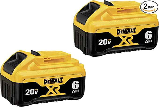 DEWALT (DCB206-2) 20V MAX Battery, Premium 6.0Ah Double Pack - - Amazon.com