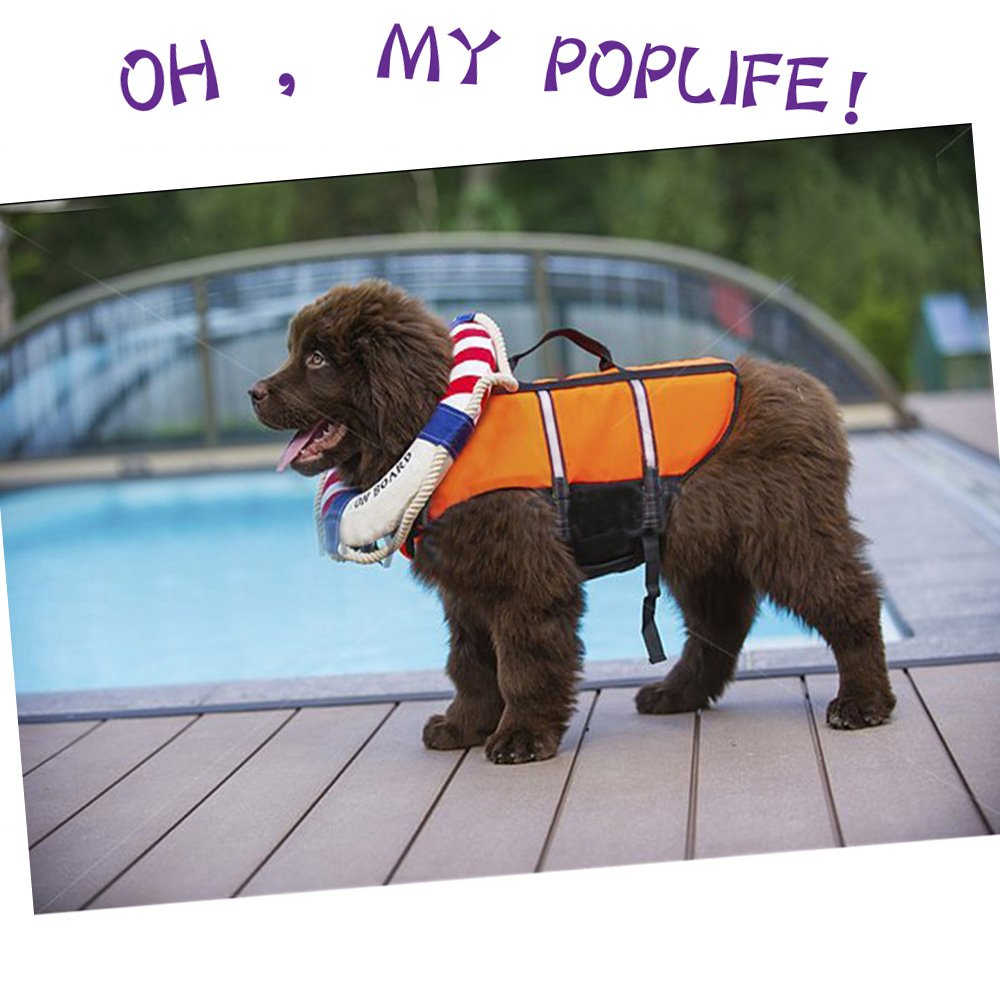 SILD Pet Life Jacket Size Adjustable Dog Lifesaver Safety Reflective Vest Pet Life Preserver Dog Saver Life Vest Coat for Swimming,Surfing,Boating, Hunting (XL, Orange) by SILD (Image #3)