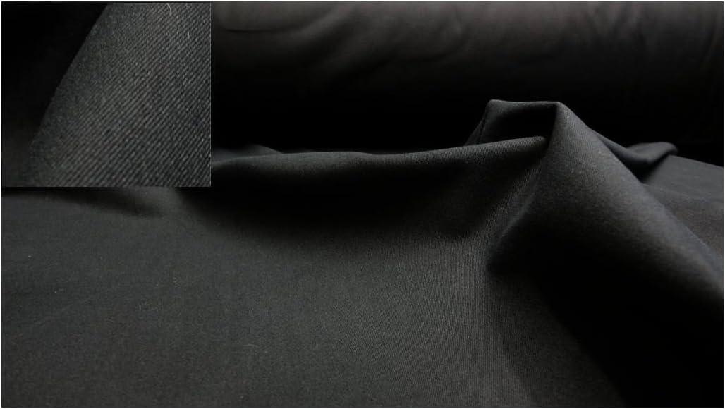 Fabrics de City negro pesada tela de algodón franela plástico ...