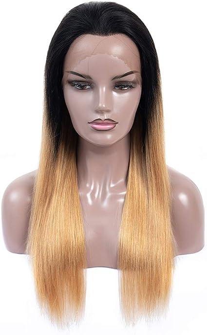 Pelucas de cabello humano Ombre con encaje frontal, pelucas ...