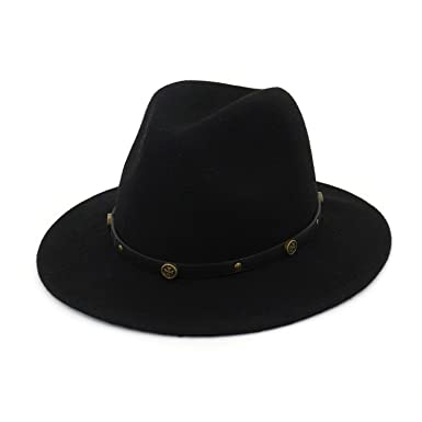 5266f4abf7695 Vintage Classic Wide Brim 100% Wool Felt Fedora Men Woman Panama Hat Jazz  Formal Party
