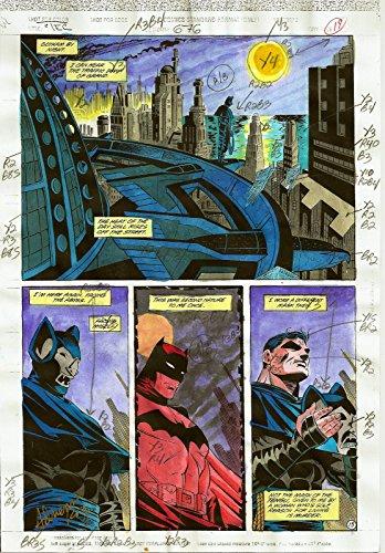 DETECTIVE COMICS #676 PRODUCTION ART ORIGINAL PAGE #15 SIGNED ADRIENNE ROY