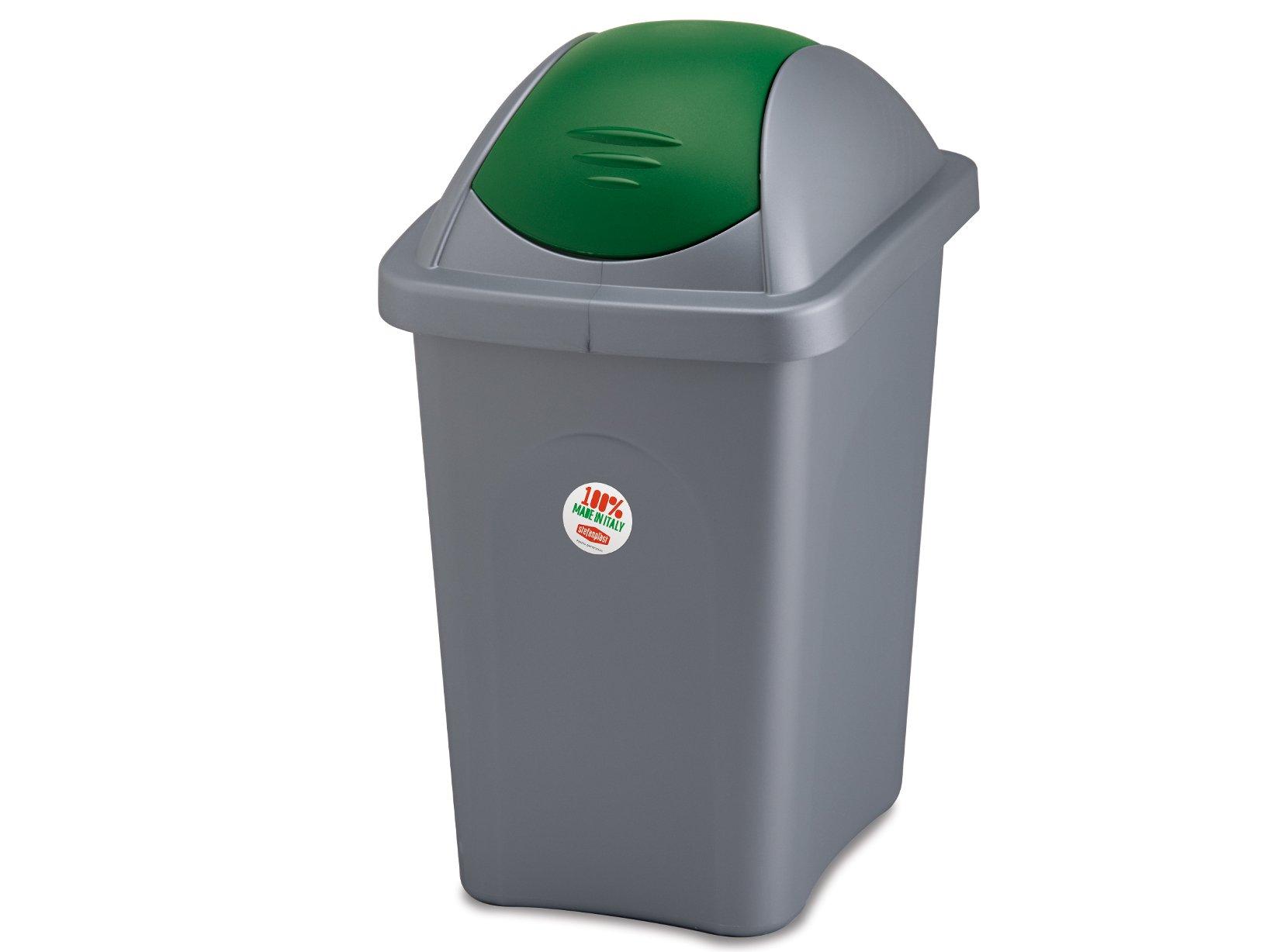 Stefanplast Basculina Garbage Bin with Lid, Polypropylene, 60 lt by Stefanplast