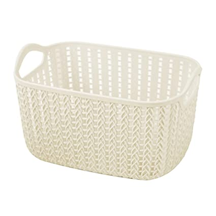 Exceptionnel Havenport Woven Plastic Storage Baskets Plastic Stackable Storage Bins For  Food Fruits Files Mixed Color Storage