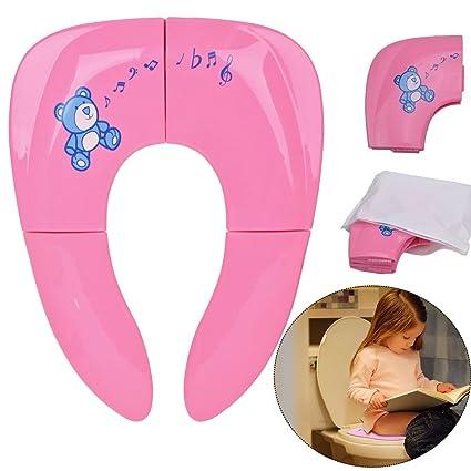 Jaetech House Adaptador WC Niños Plegable Asiento Inodoro Portátil Bebés Tapa WC para Viaje