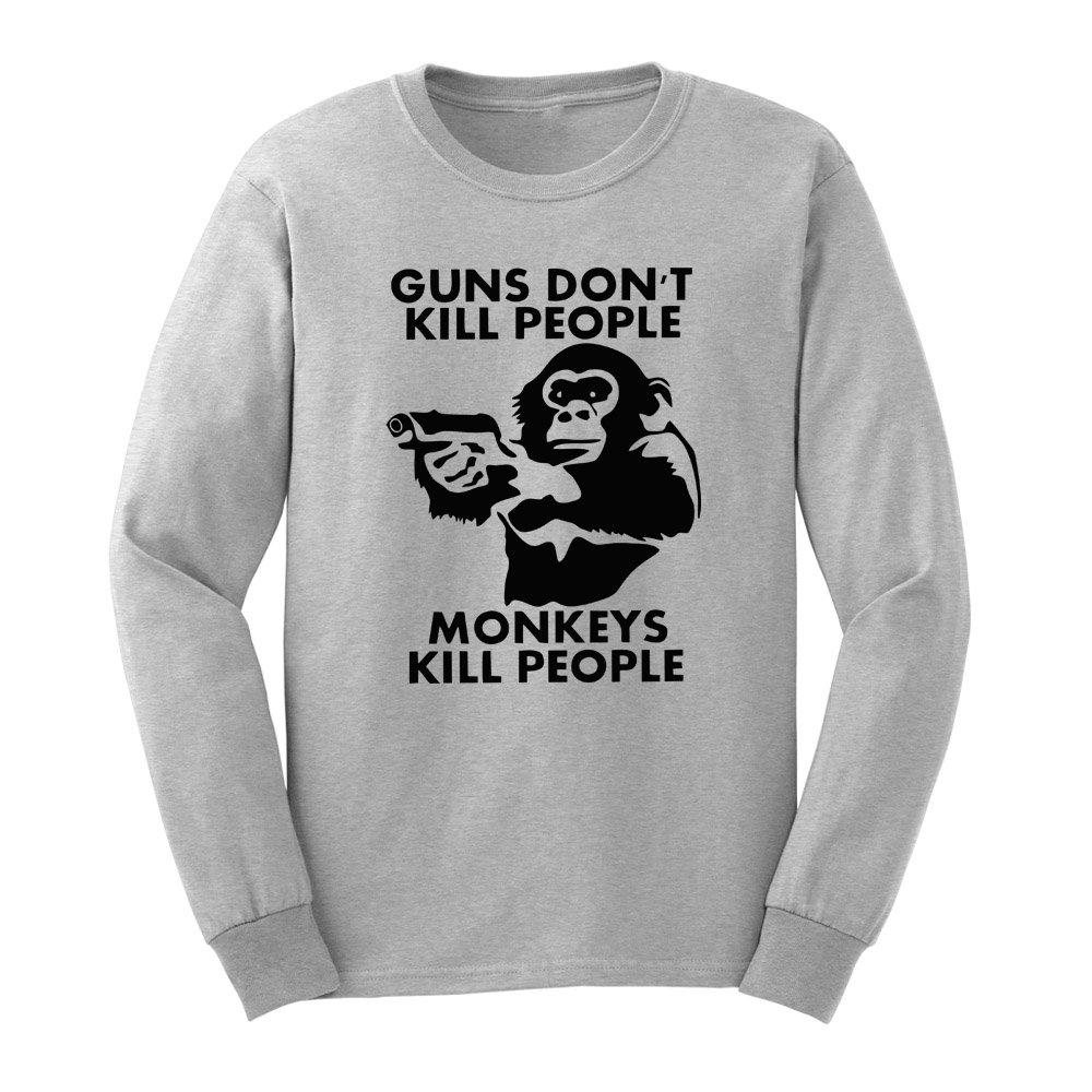 Loo Show S Guns Don T Kill People Monkeys Do Funny T Shirts Tee