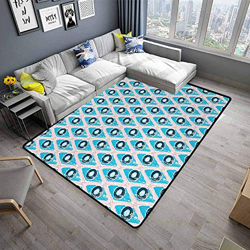 (Abstract,Washable Kitchen Area Rug 36
