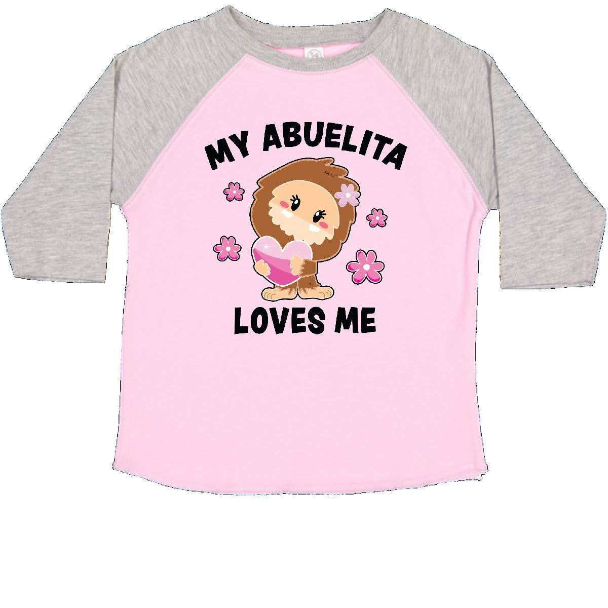 inktastic My Abuelita Loves Me with Bigfoot Toddler T-Shirt