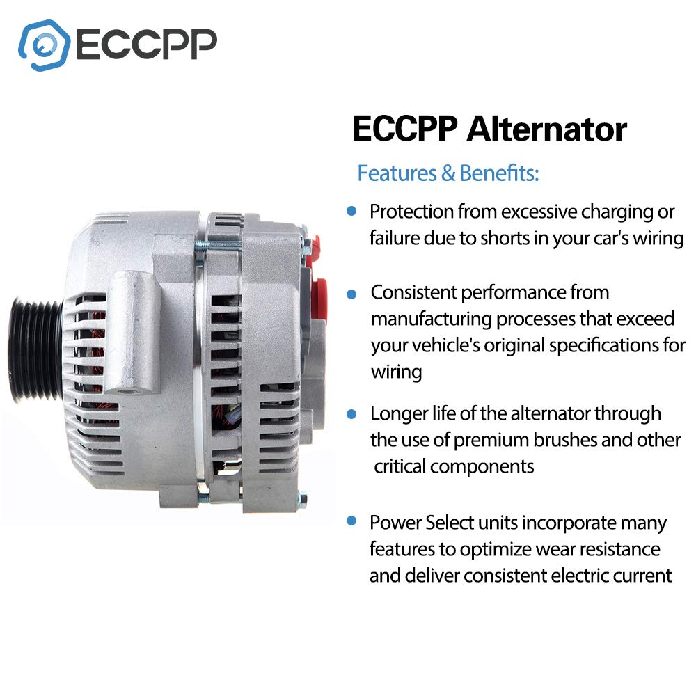 Alternators ECCPP S6 8519 for Ford Explorer Sport Trac Mercury Mountaineer 2004 2005 130A IR IF 5L2Z10346AA